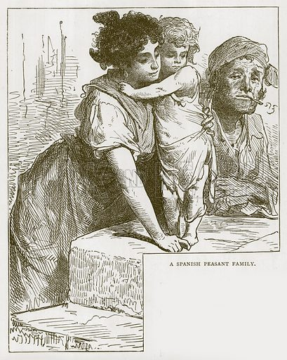 A Spanish Peasant Family. Illustration for Children of All Nations (Cassell, c 1880).