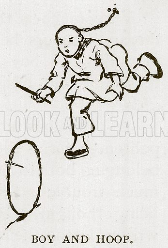 Boy and Hoop. Illustration for Children of All Nations (Cassell, c 1880).