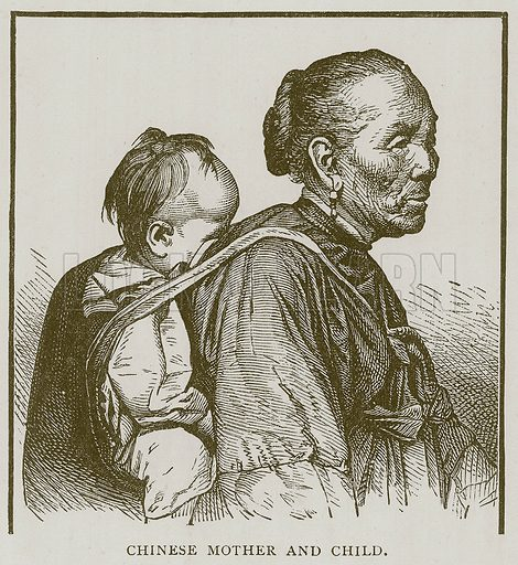Chinese Mother and Child. Illustration for Children of All Nations (Cassell, c 1880).