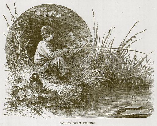 Young Iwan Fishing. Illustration for Children of All Nations (Cassell, c 1880).