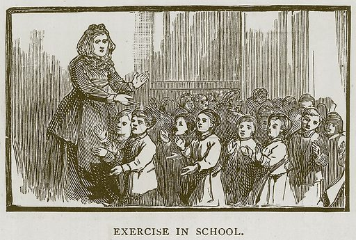 Exercise in School. Illustration for Children of All Nations (Cassell, c 1880).