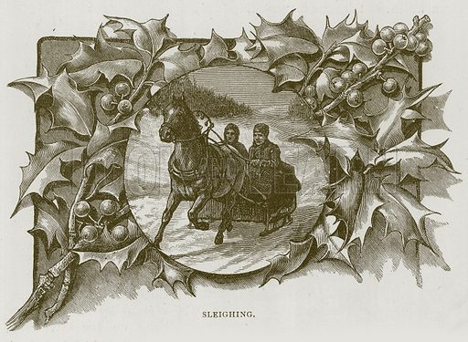 Sleighing. Illustration for Children of All Nations (Cassell, c 1890).