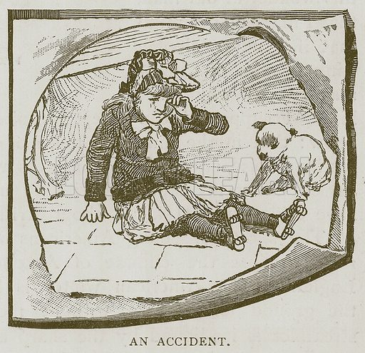 An Accident. Illustration for Children of All Nations (Cassell, c 1890).