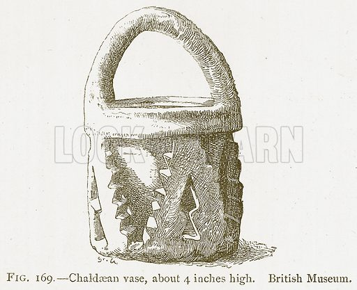 Chaldaean Vase, about 4 Inches High. British Museum. Illustration from A History of Art in Chaldaea and Assyria by Georges Perrot and Charles Chipiez (Chapman and Hall, 1884).