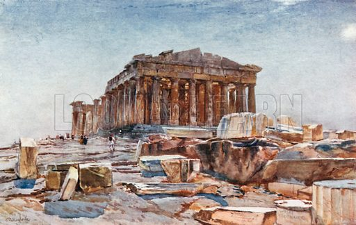 The Parthenon from the Propylaea