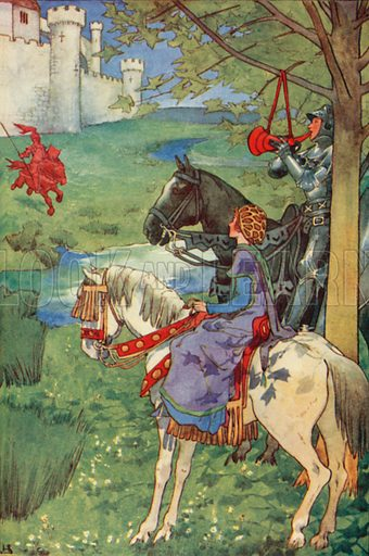 picture, Helen Stratton, artist, illustrator, horse, horn, legend