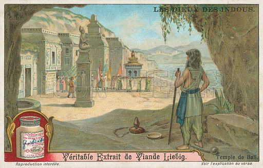 Temple of Bali. Liebig card (early 20th century).