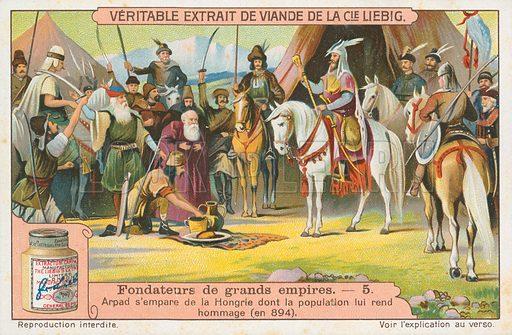 Arpad. Liebig card (early 20th century).
