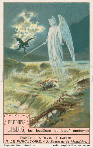 Dante, The Divine Comedy. Liebig card (early 20th century).