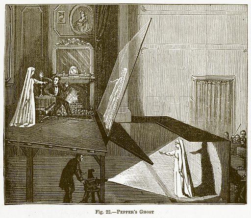 Pepper's Ghost. Illustration for The New Popular Educator (Cassell, 1891).