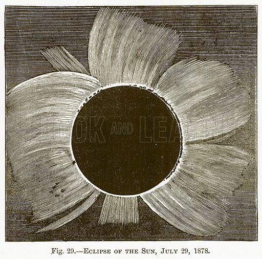 Eclipse of the Sun, July 29, 1878. Illustration for The New Popular Educator (Cassell, 1891).