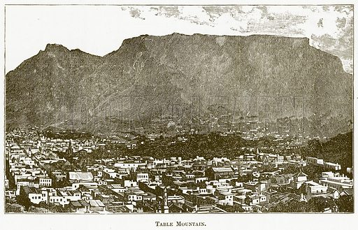 Table Mountain. Illustration for The New Popular Educator (Cassell, 1891).