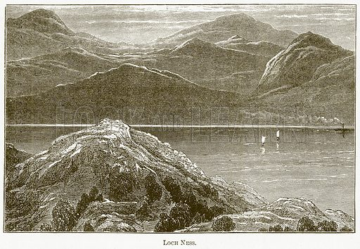 Loch Ness. Illustration for The New Popular Educator (Cassell, 1891).