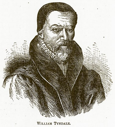 William Tyndale. Illustration for The New Popular Educator (Cassell, 1891).