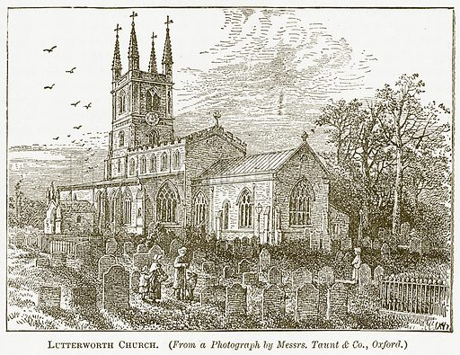 Lutterworth Church. Illustration for The New Popular Educator (Cassell, 1891).