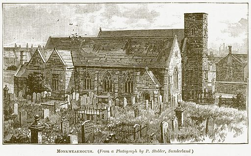 Monkwearmouth. Illustration for The New Popular Educator (Cassell, 1891).