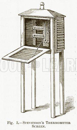 Stevenson's Thermometer Screen. Illustration for The New Popular Educator (Cassell, 1891).