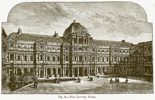 The Louvre, Paris. Illustration for The New Popular Educator (Cassell, 1891).