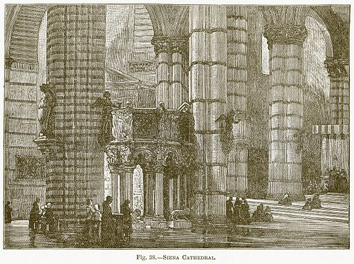 Siena Cathedral. Illustration for The New Popular Educator (Cassell, 1891).