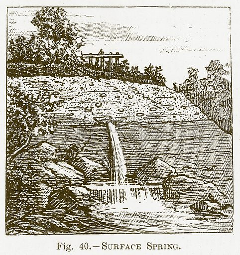 Surface Spring. Illustration for The New Popular Educator (Cassell, 1891).