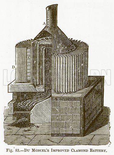 Du Moncel's Improved Clamond Battery. Illustration for The New Popular Educator (Cassell, 1891).