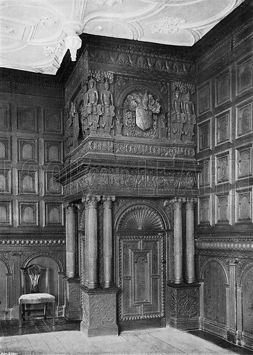 The Red Lodge. Internal Porch in the Drawing Room. Photograph in In English Homes Vol 1 (Country Life, 1904).