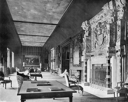 Cobham Hall: The Long Gallery. Photograph in In English Homes Vol 1 (Country Life, 1904).