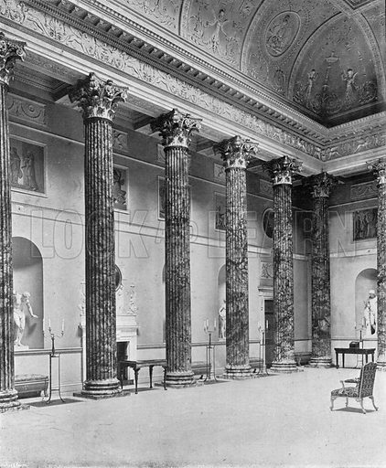 Kedleston Hall: The Marble Hall. Photograph in In English Homes Vol 1 (Country Life, 1904).