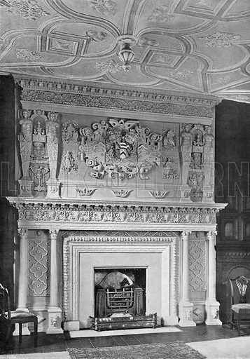 The Red Lodge: The Drawing-Room Chimney-Piece. Photograph in In English Homes Vol 1 (Country Life, 1904).