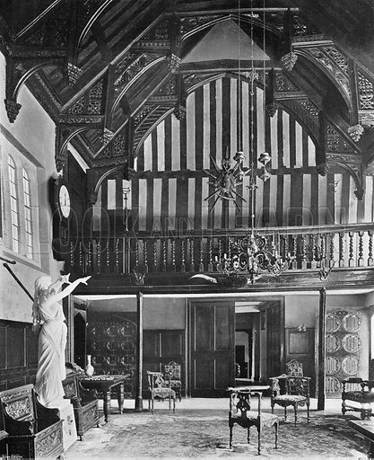 Gifford's Hall: King John's Banqueting Hall. Photograph in In English Homes Vol 1 (Country Life, 1904).