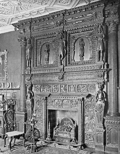 Wolfeton House: The Spanish Chimney-Piece. Photograph in In English Homes Vol 1 (Country Life, 1904).