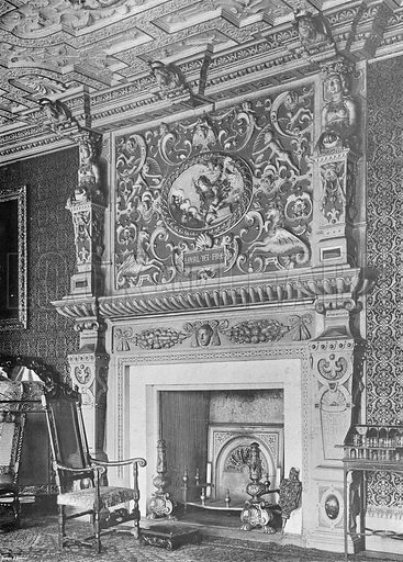 Boston House: The Drawing-Room Chimney-Piece. Photograph in In English Homes Vol 1 (Country Life, 1904).