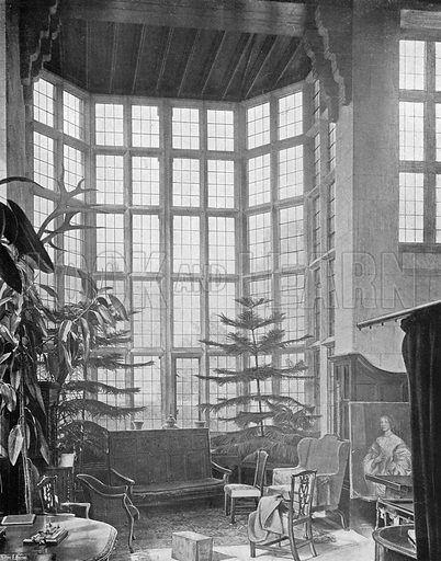 Stanway: The Great Window in the Hall. Photograph in In English Homes Vol 1 (Country Life, 1904).