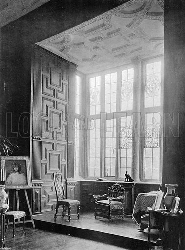 Broughton Castle: The Drawing-Room Window. Photograph in In English Homes Vol 1 (Country Life, 1904).