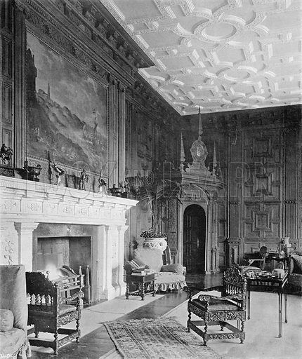 Broughton Castle: The Drawing-Room. Photograph in In English Homes Vol 1 (Country Life, 1904).