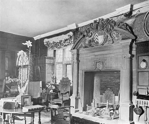 Sydenham House: Interior of the Hall. Photograph in In English Homes Vol 1 (Country Life, 1904).