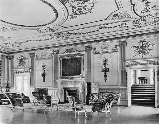 Knowsley Hall: The Music-Room. Photograph in In English Homes Vol 1 (Country Life, 1904).