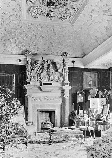 Apethorpe: The Drawing-Room. Photograph in In English Homes Vol 1 (Country Life, 1904).