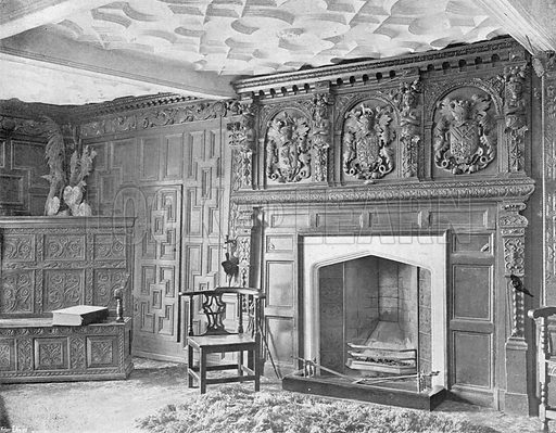 Birtsmorton Court: The Old Parlour. Photograph in In English Homes Vol 1 (Country Life, 1904).