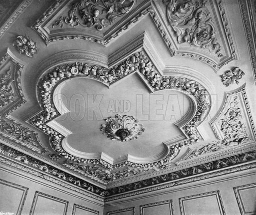 The Ceiling of the Great Hall. Photograph in In English Homes Vol 1 (Country Life, 1904).