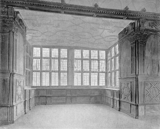 The Great Bay in the Long Gallery. Photograph in In English Homes Vol 1 (Country Life, 1904).