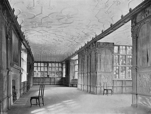 The Long Gallery. Photograph in In English Homes Vol 1 (Country Life, 1904).