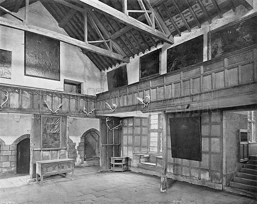 The Banqueting Hall. Photograph in In English Homes Vol 1 (Country Life, 1904).