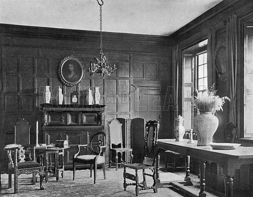 The Hall Chamber. Photograph in In English Homes Vol 1 (Country Life, 1904).