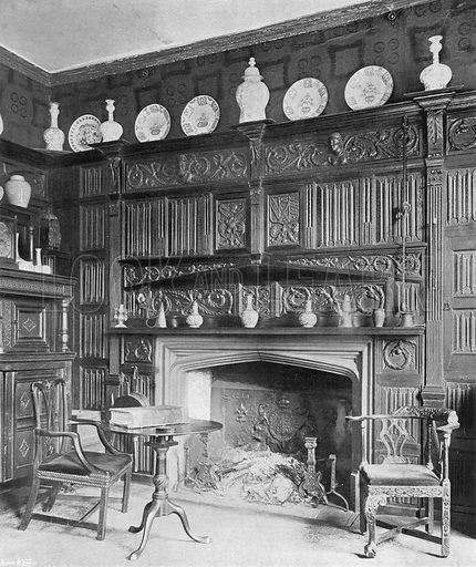 The Study. Photograph in In English Homes Vol 1 (Country Life, 1904).