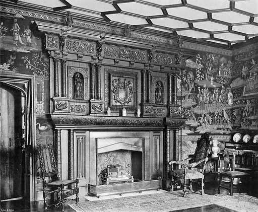 The Tapestry-Room. Photograph in In English Homes Vol 1 (Country Life, 1904).