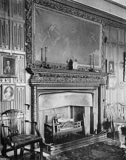 The Billiard Room. Photograph in In English Homes Vol 1 (Country Life, 1904).