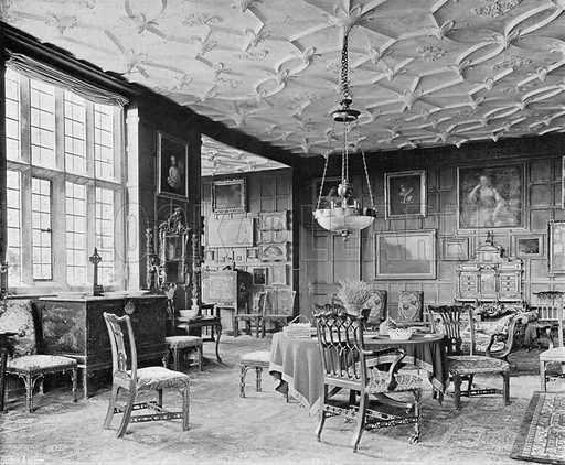 The Chapel Drawing-Room. Photograph in In English Homes Vol 1 (Country Life, 1904).
