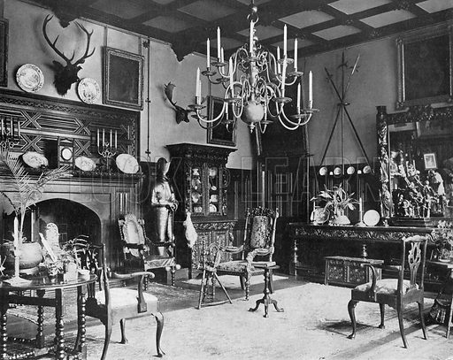 The Hall. Photograph in In English Homes Vol 1 (Country Life, 1904).