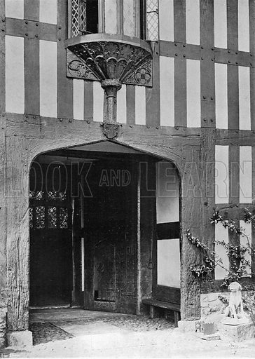 The Ancient Entrance. Photograph in In English Homes Vol 1 (Country Life, 1904).